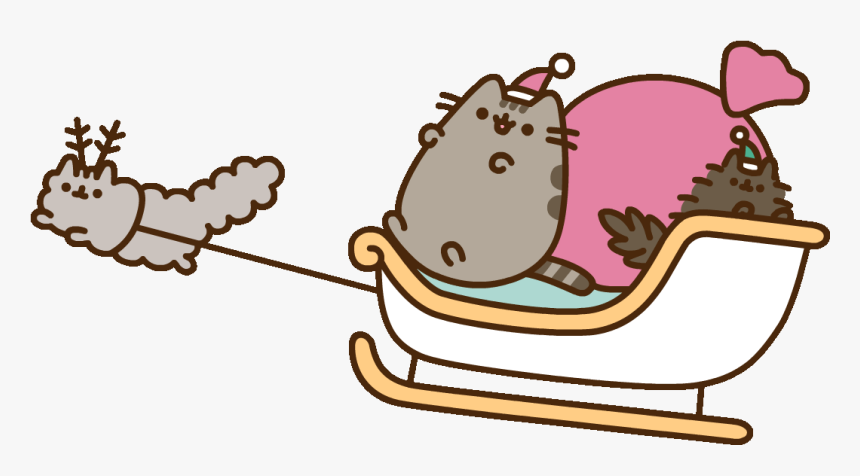 Santa Claws Cat Sticker By Pusheen Clipart , Png Download - Pusheen Christmas, Transparent Png, Free Download