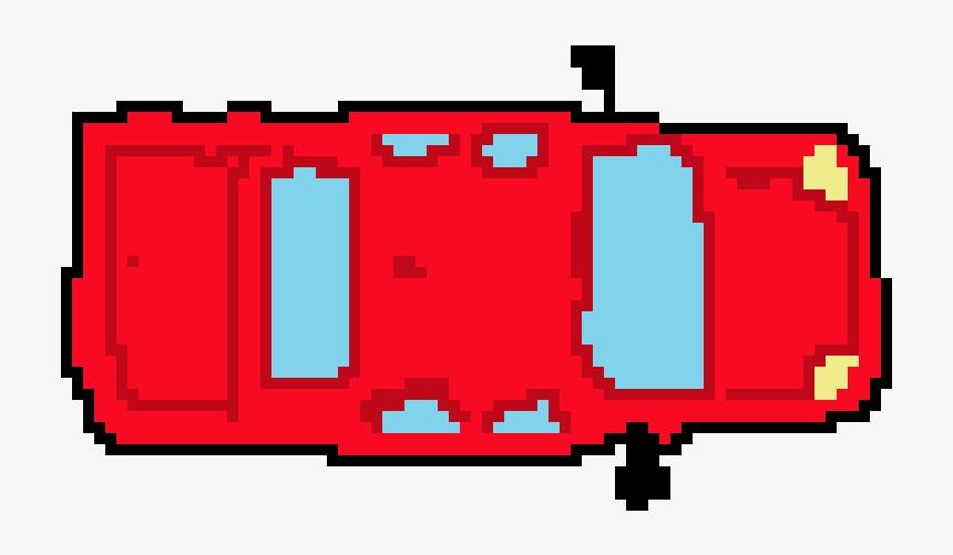 Red Pixel Art Car, HD Png Download, Free Download