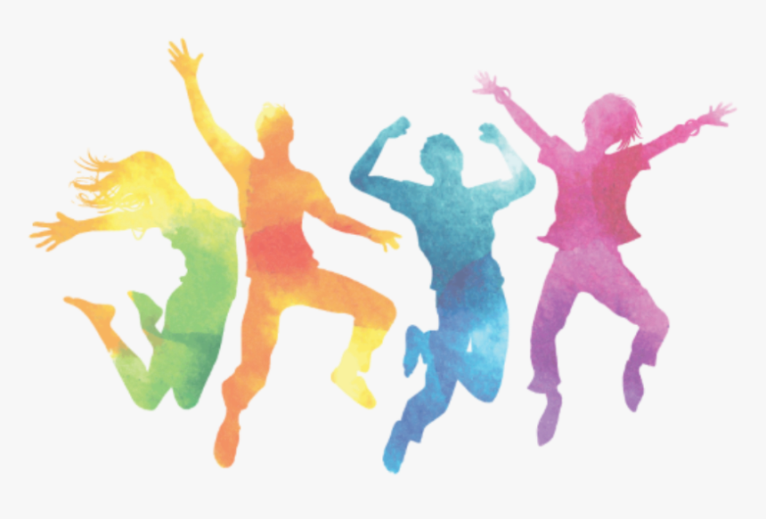 Picture1 Colorful Dancing Silhouette Transparent Hd Png Download Kindpng