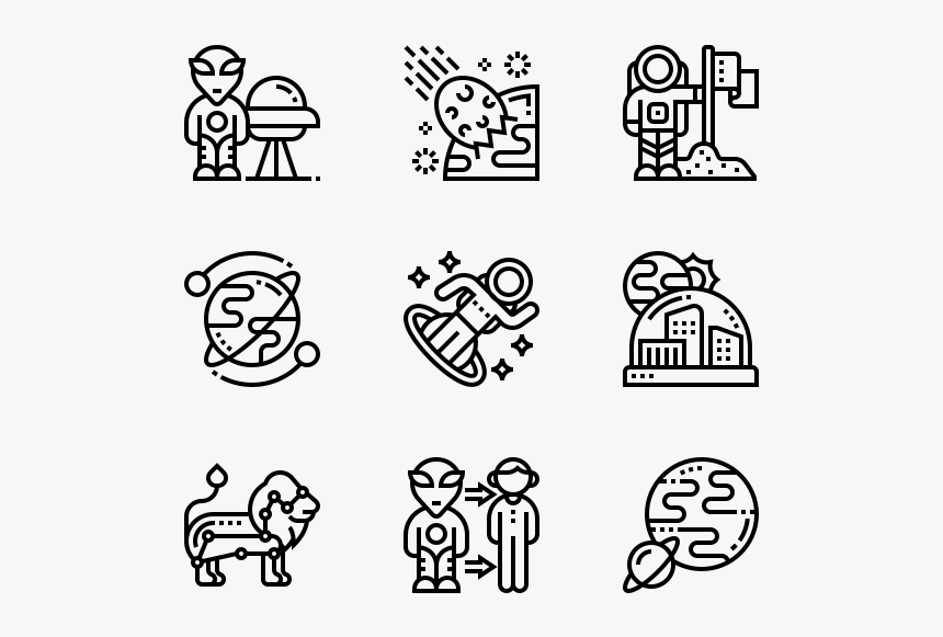 Astronautics - Transparent Marketing Icons Png, Png Download, Free Download