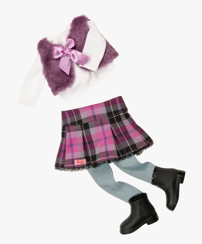 A Tad Plaid Outfit For 18-inch Dolls - Our Generation Taid Plaid, HD Png Download, Free Download