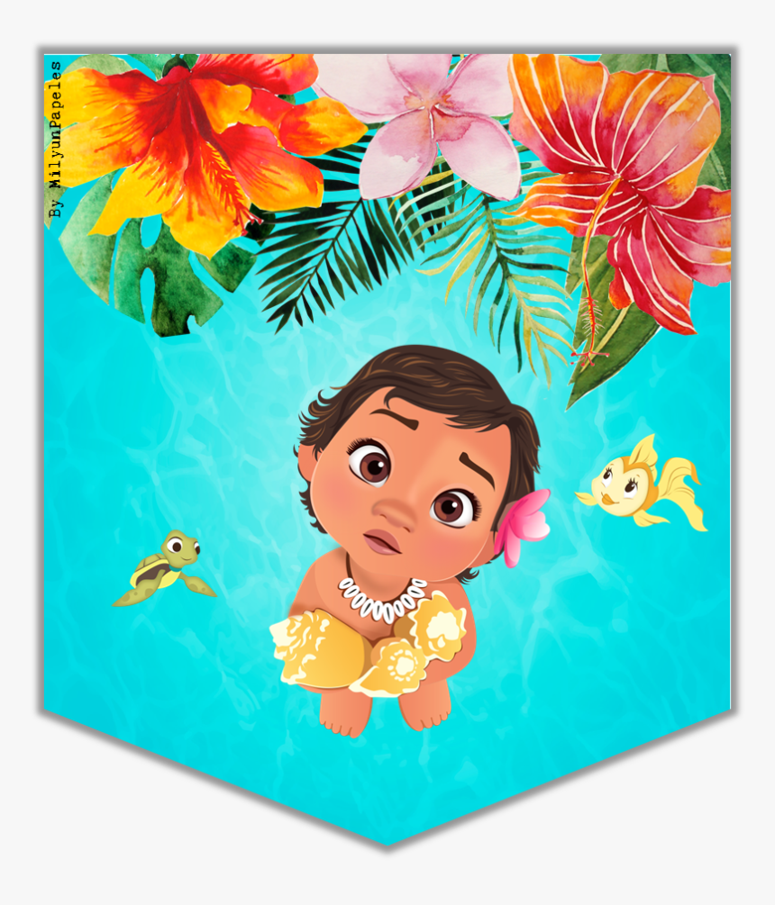 Banderines De Moana Bebe , Png Download - Moana Bebe Png Hd, Transparent Png, Free Download