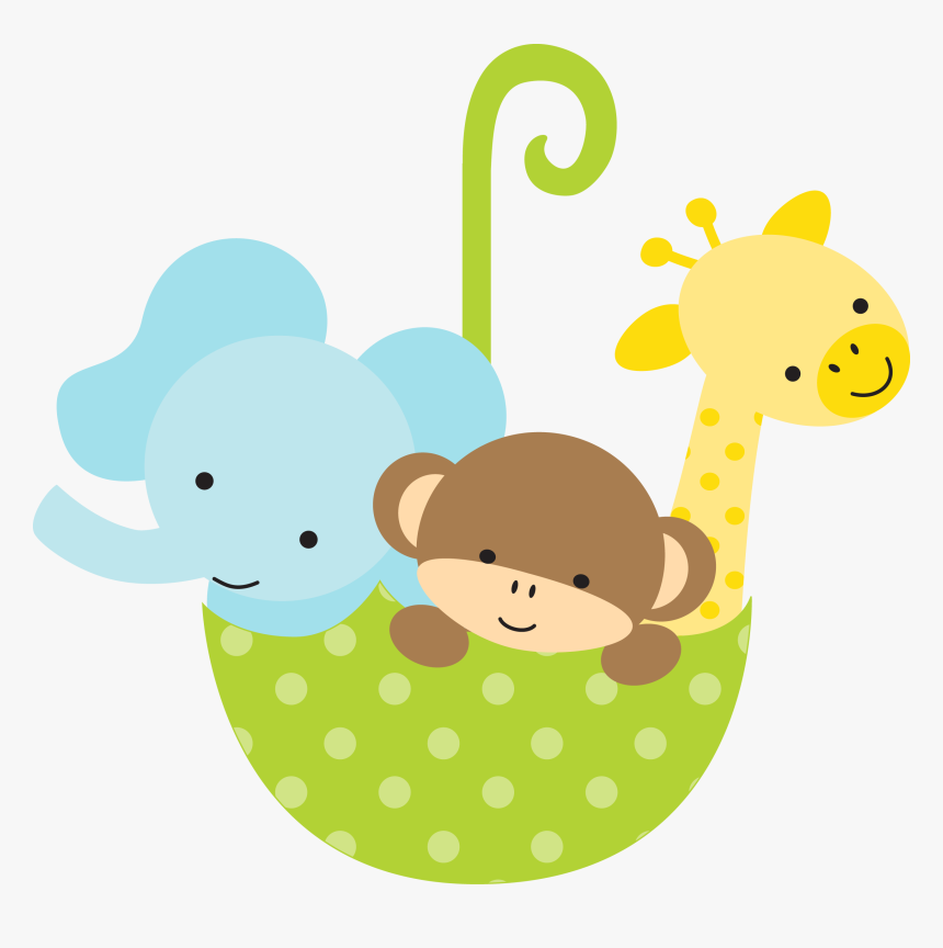 Baby Shower Baby Animals Cartoon Hd Png Download Kindpng