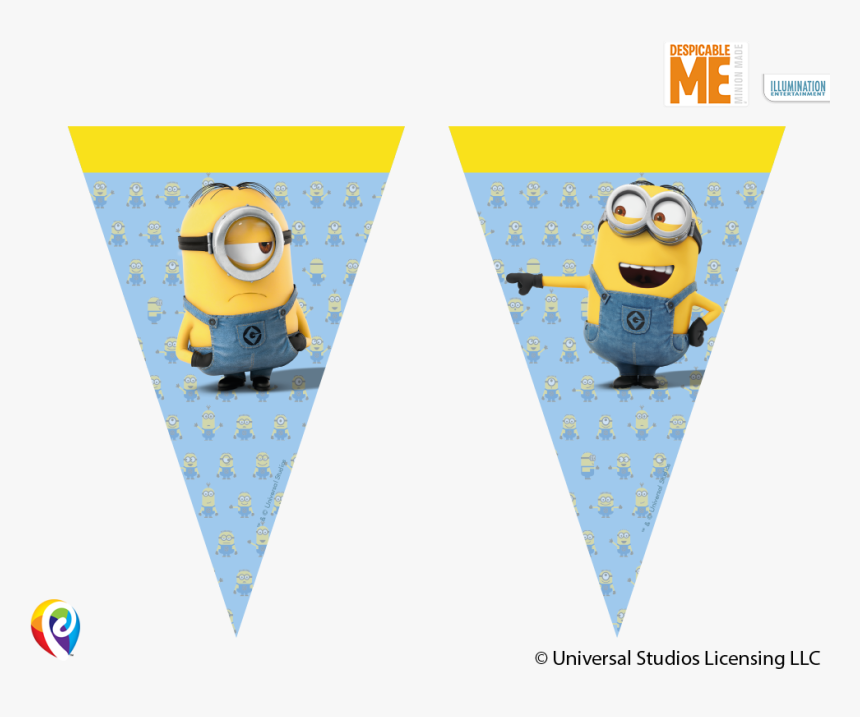 Despicable Me Bunting Banner - Minions Party Flag Banner, HD Png Download, Free Download