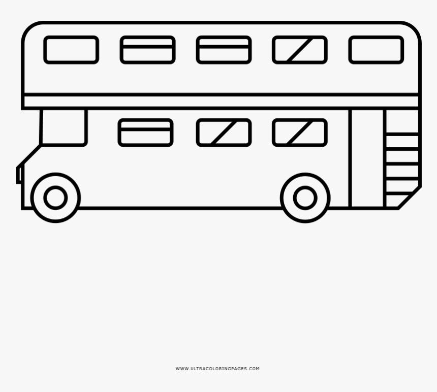 London Bus Coloring Page - Onibus De Londres Desenho Para Colorir, HD Png Download, Free Download