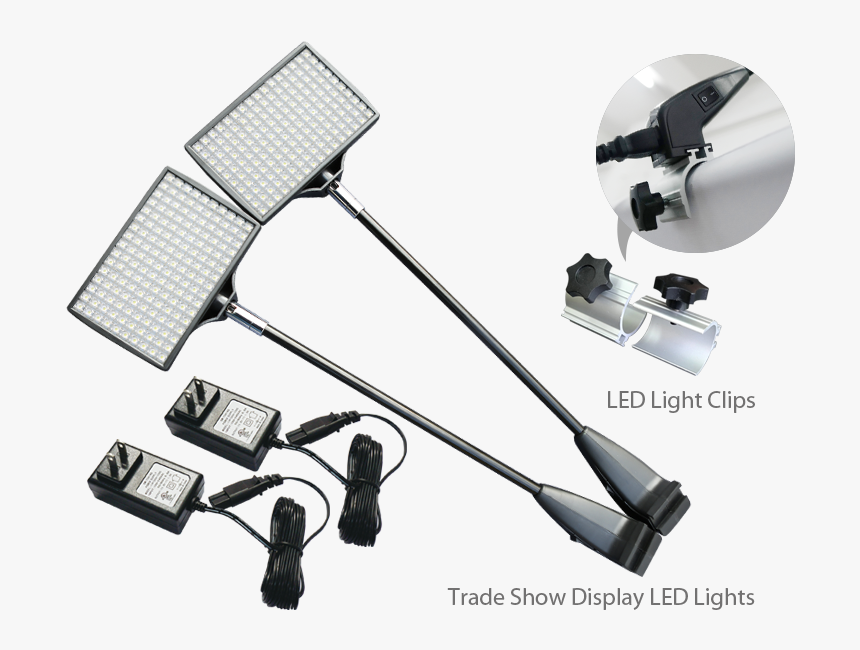 2pcs Trade Show Display Led Lights & Clips - Clip Lighting Trade Shows, HD Png Download, Free Download
