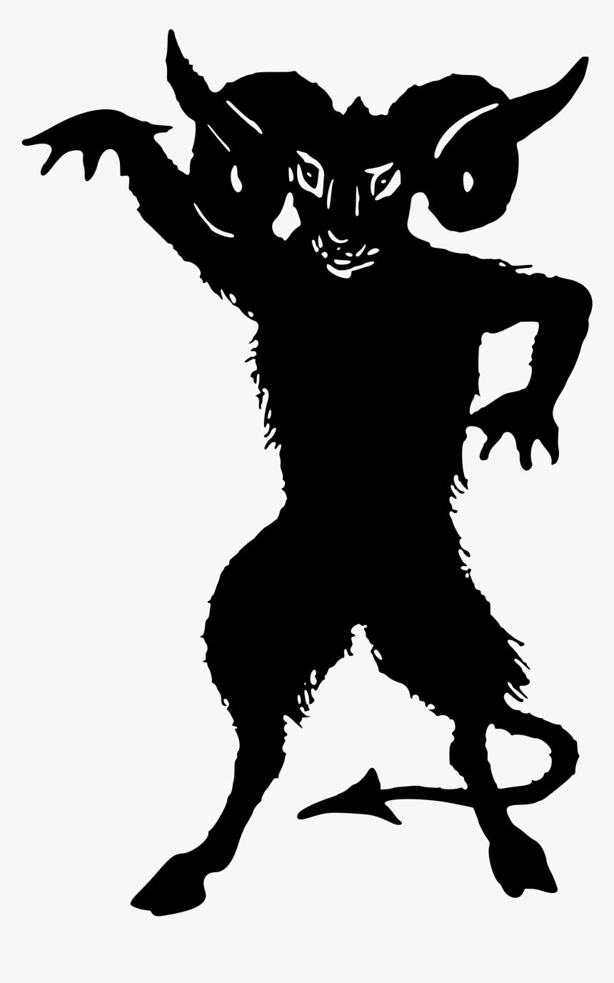 Lucifer Devil Demon Silhouette Clip Art - Demon Silhouette, HD Png Download, Free Download