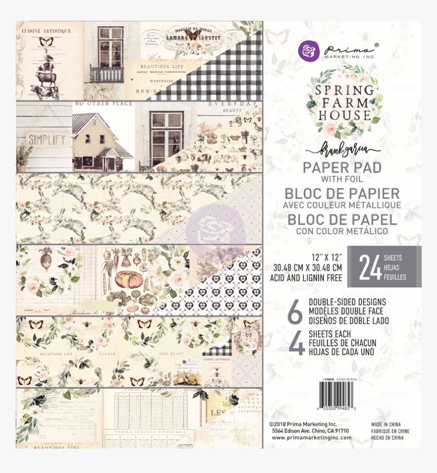 Prima Marketing Double-sided Paper Pad Spring Farmhouse, HD Png Download, Free Download