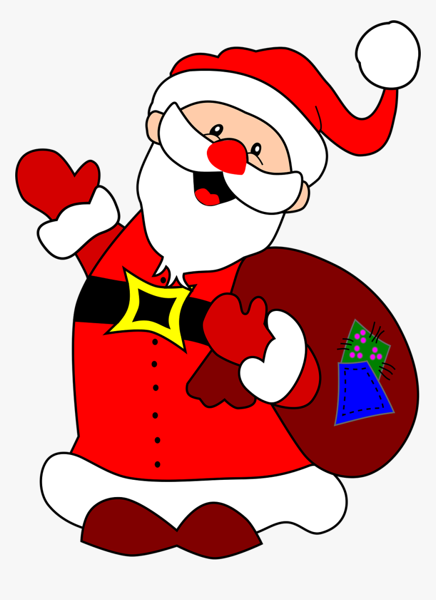 Christmas Claus Comic Characters Free Picture - Santa Claus On Paper, HD Png Download, Free Download