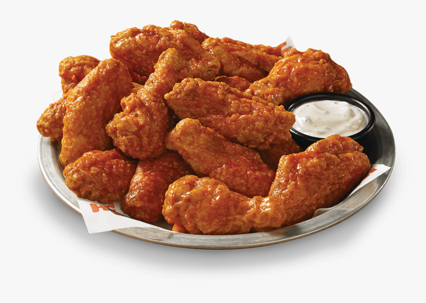 Hooters Stuffed Wings Chorizo - Breaded Vs Naked Wings, HD Png Download, Free Download