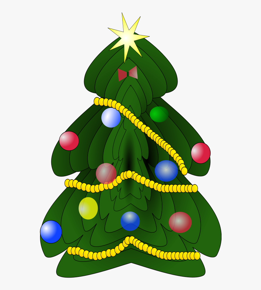 Star On Top Of The Christmas Tree Clipart - Christmas Tree Clipart Dark Green, HD Png Download, Free Download