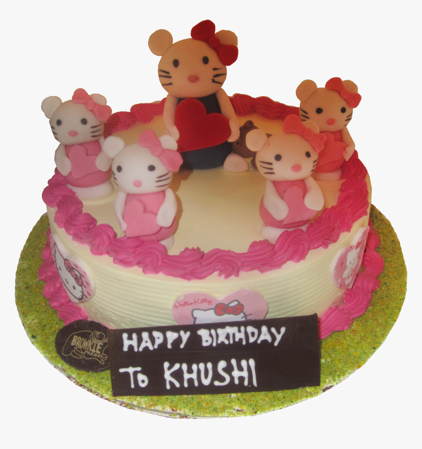 Transparent Cartoon Cake Png - Happy Birthday Khushi Cartoon Cake, Png Download, Free Download