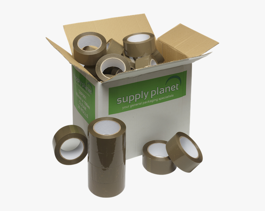 Brown Packaging Tape 48mm X 100m - Carton, HD Png Download, Free Download