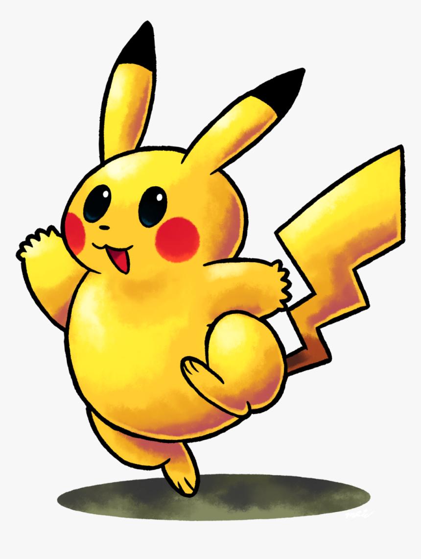 Pikachu Clipart Cute Rainbow - Smash Bros Mario & Luigi Style, HD Png Download, Free Download