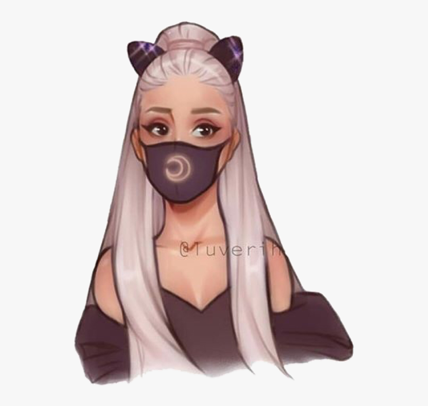 Ariana Grande Drawing Doodle Painting Cute Overlay - Cute Ariana Grande Drawings, HD Png Download, Free Download