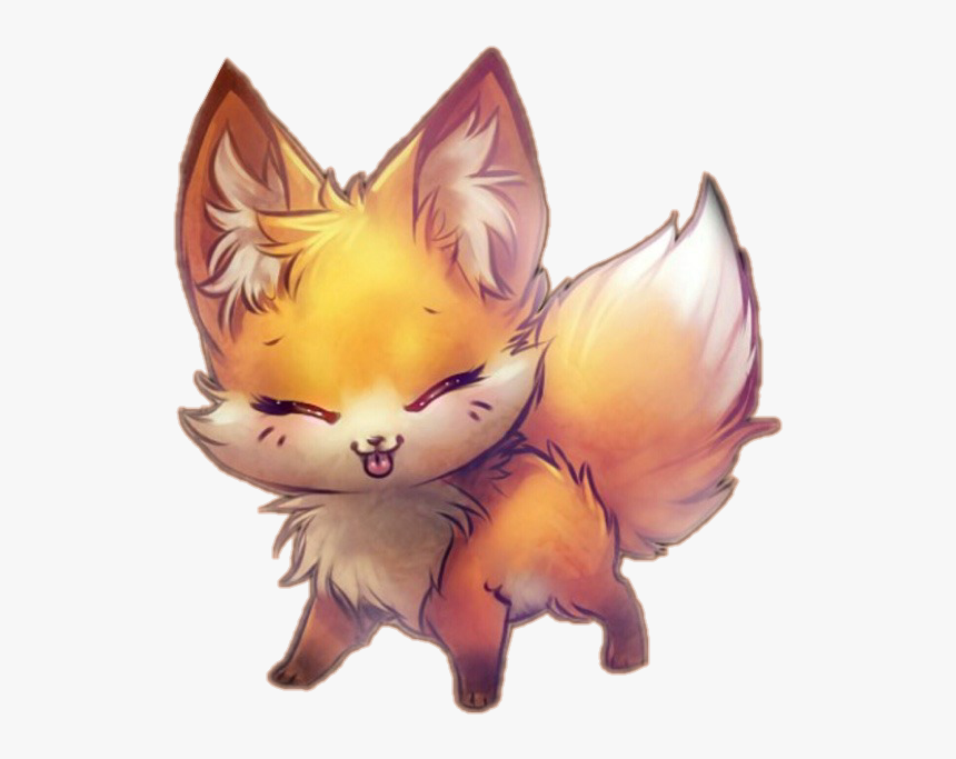 Transparent Cute Fox Clipart - Chibi Fox Anime Girl, HD Png Download, Free Download