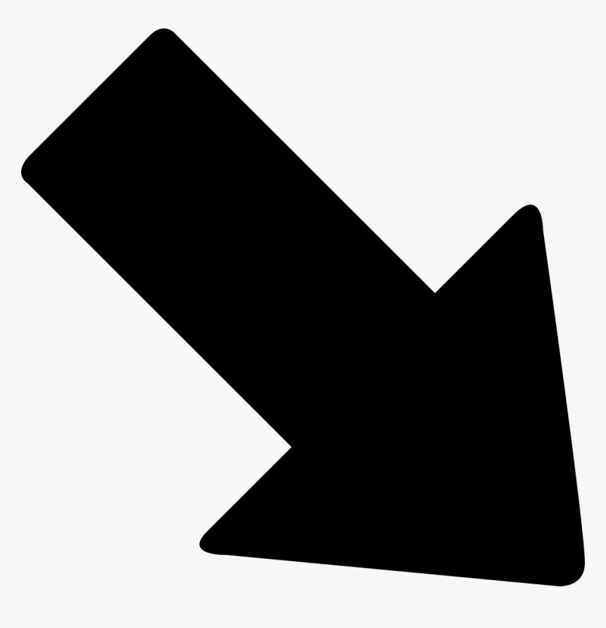 Down Right Arrow Comments - Arrow Pointing Down Right, HD Png Download, Free Download