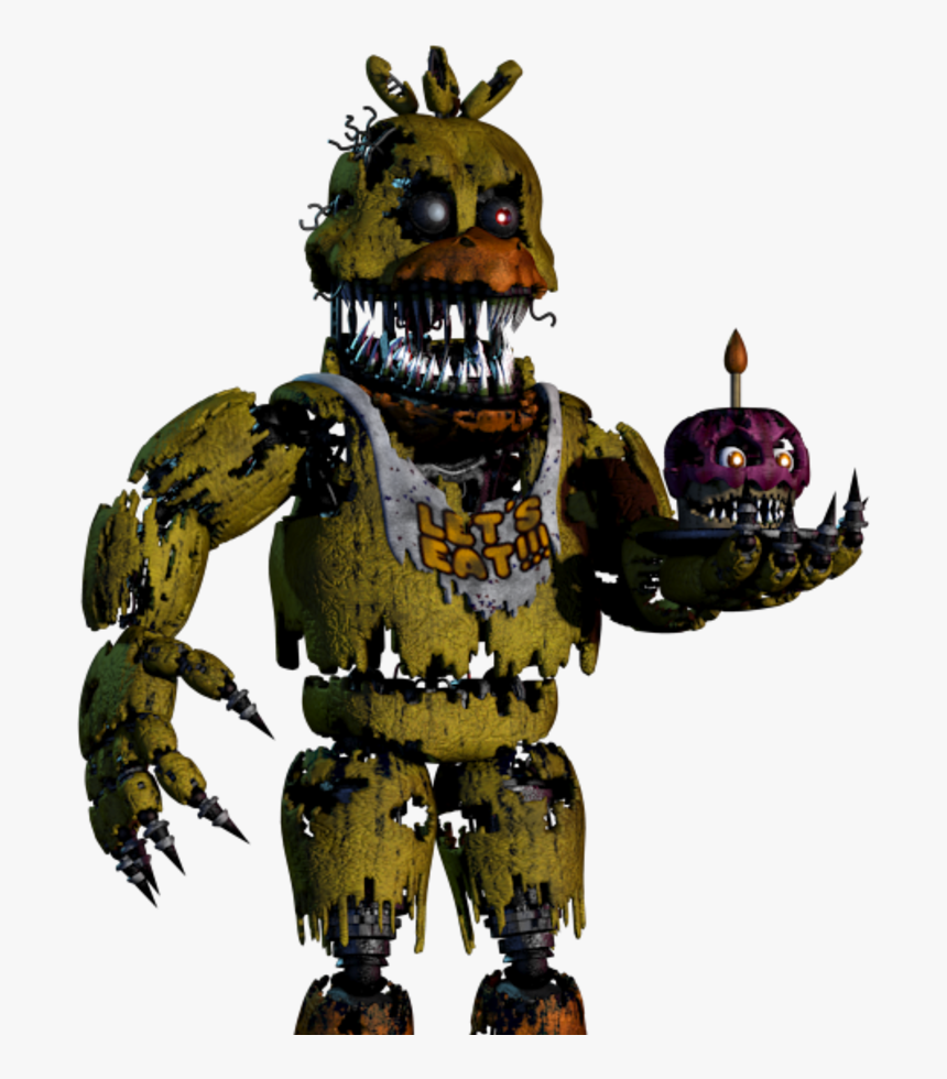 Five Nights At Freddy& - Fnaf Nightmare Chica Png, Transparent Png, Free Download