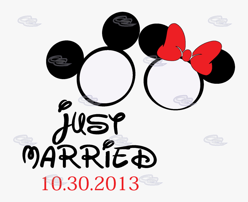500027 Mickey Minnie Rings - Logos, HD Png Download, Free Download