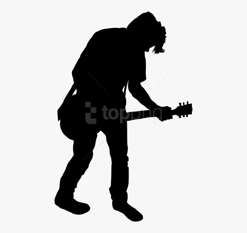 Free Png Electric Guitar Player Png - Guitar Player Silhouette Clipart, Transparent Png, Free Download