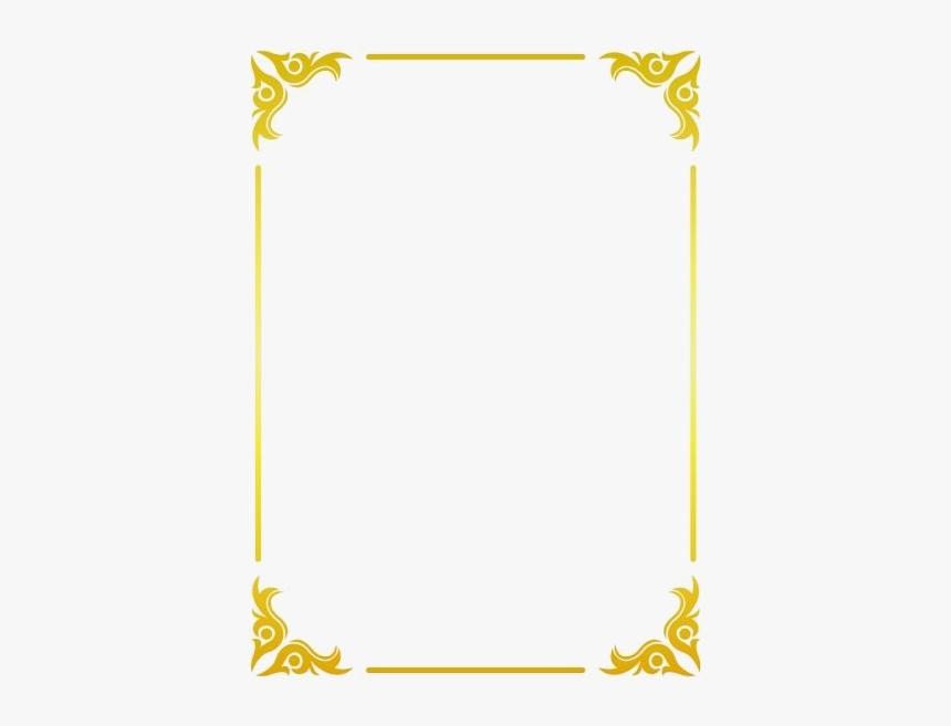 Square Golden Frame Border Png Transparent Image - Border Gold Frame Png, Png Download, Free Download