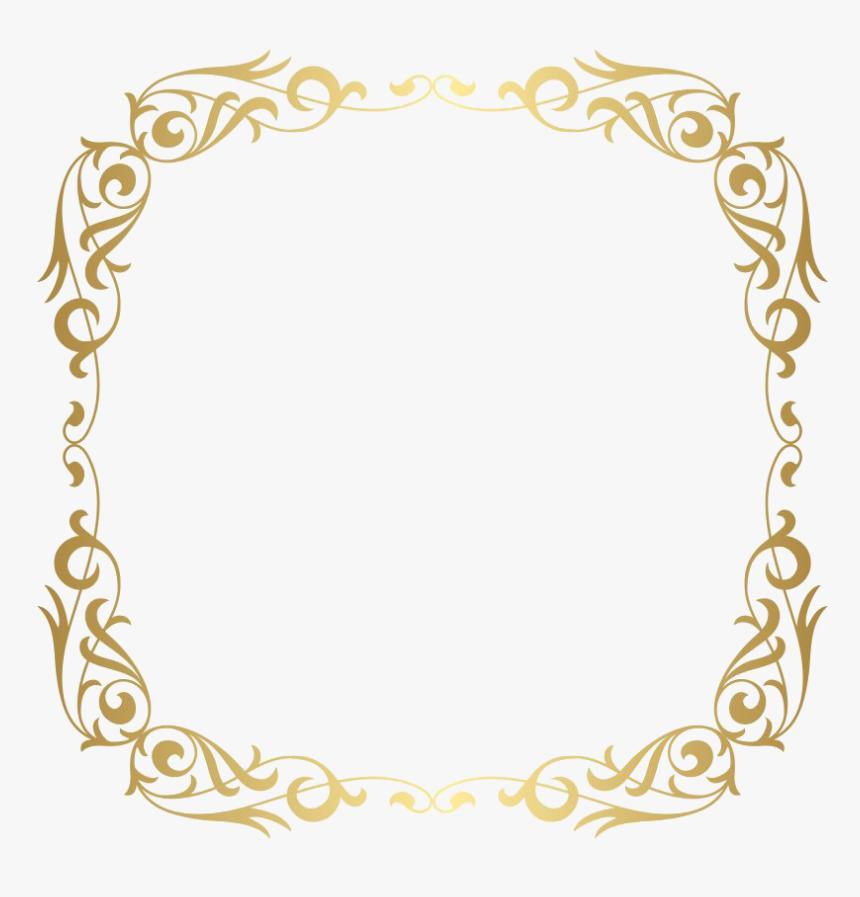 Rectangle Golden Frame Border Png Photos - Fancy Gold Border Png, Transparent Png, Free Download