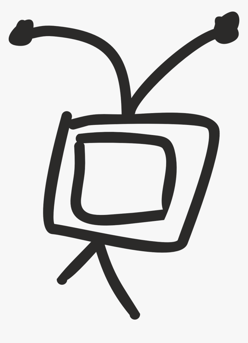 Tv Television And Radio Media Free Photo - Gambar Sketsa Gambar Televisi, HD Png Download, Free Download