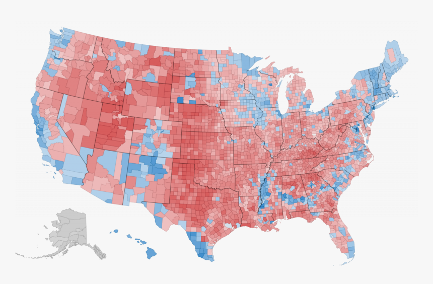 Ben Winston Applied Demography - America Election 2016 Map, HD Png Download, Free Download
