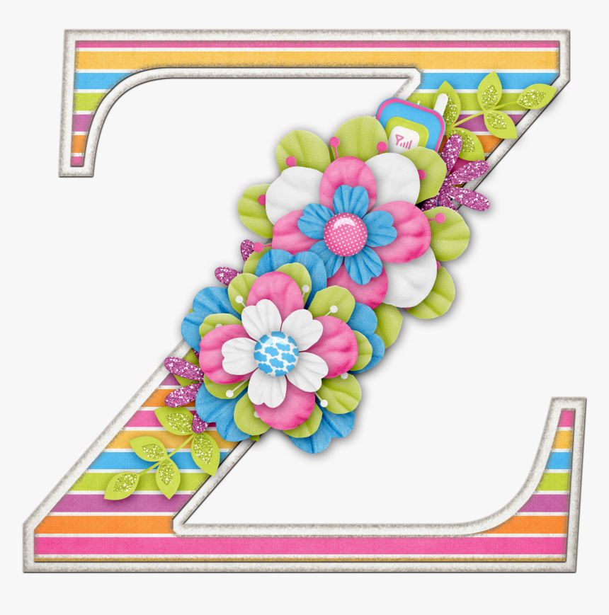 Alfabeto De Letras Mayusculas Adornadas Con Flores, HD Png Download, Free Download
