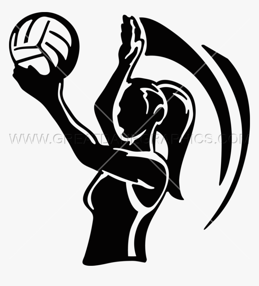 Overh Serve Production Ready - Girl Volleyball Silhouette Png Transparent, Png Download, Free Download