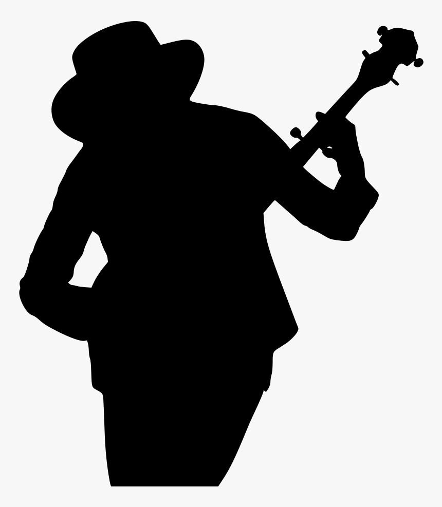 Banjo Player Silhouette, HD Png Download, Free Download