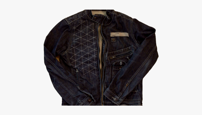 Modern Denim Fashion - Leather Jacket, HD Png Download, Free Download