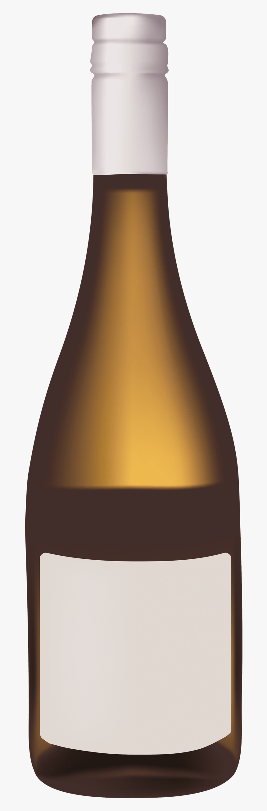 Gold Wine Bottle - Clip Art Wine Bottle Png, Transparent Png, Free Download