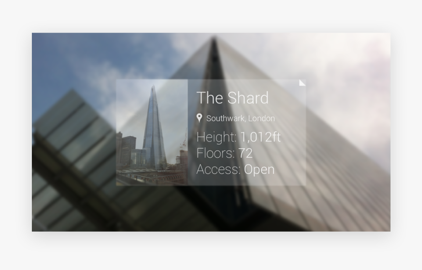 Google Glass - The Shard - Skyline, HD Png Download, Free Download