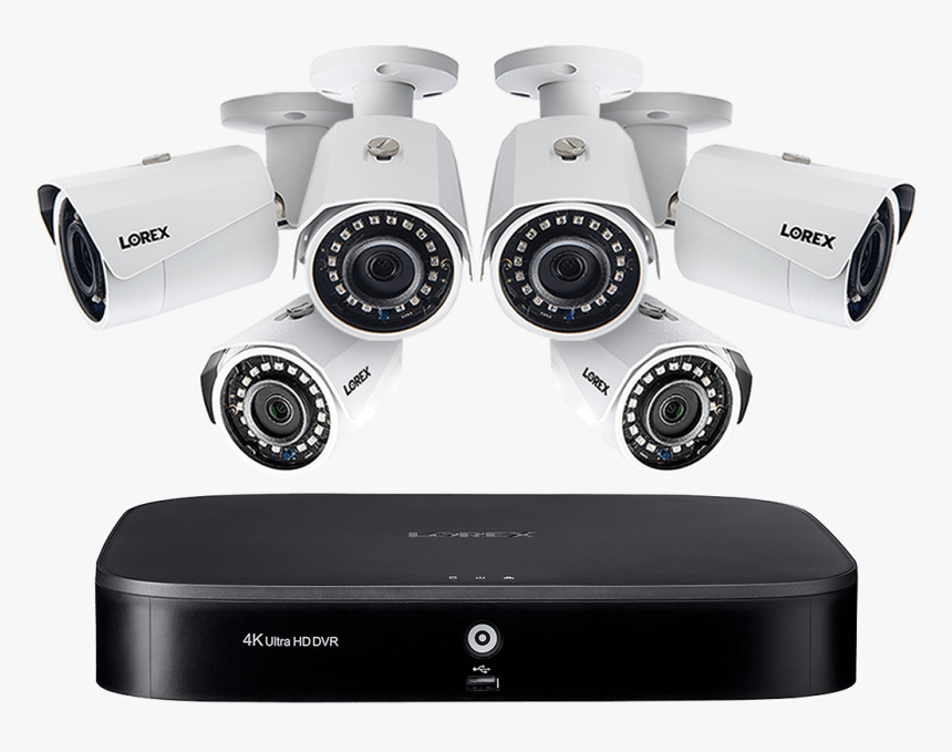 Hd Camera System With 8-channel 4k Dvr And Six 1080p - Security Alarm, HD Png Download, Free Download
