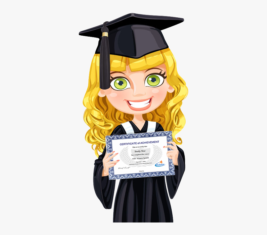 Estudiante - Girl Graduation Robe Animated, HD Png Download, Free Download
