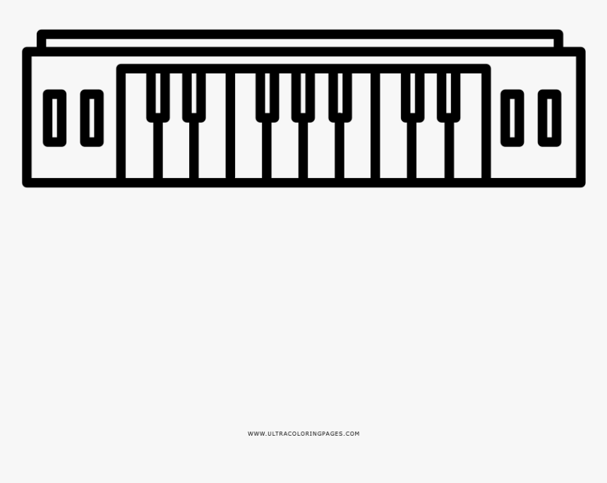 - Easy Keyboard Coloring Page Clip Art Computer I Abcteach - Musical Keyboard,  HD Png Download - Kindpng