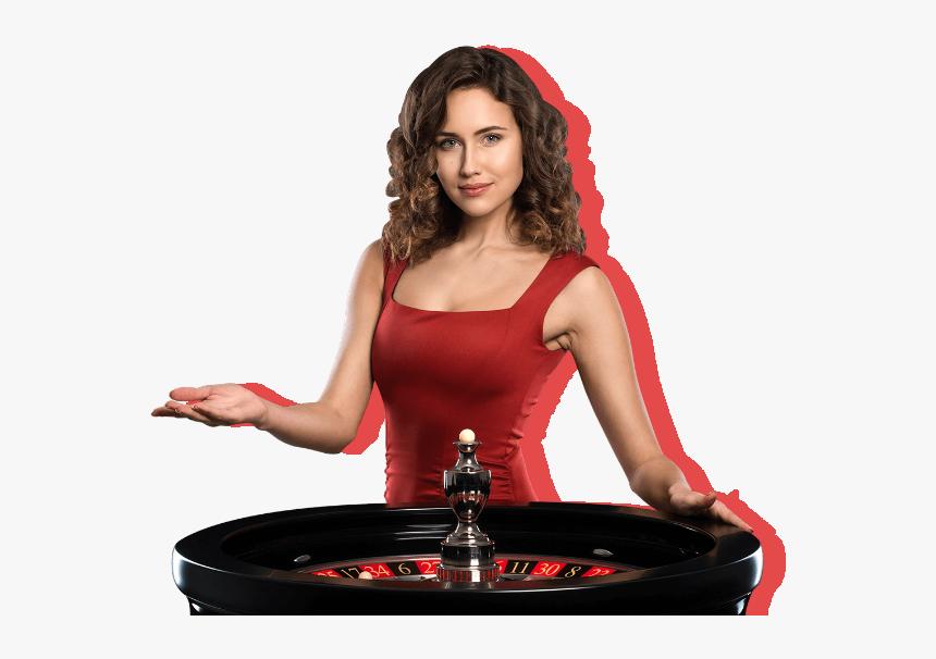 Live Casino Female Dealer Online Casino Hd Png Download Kindpng