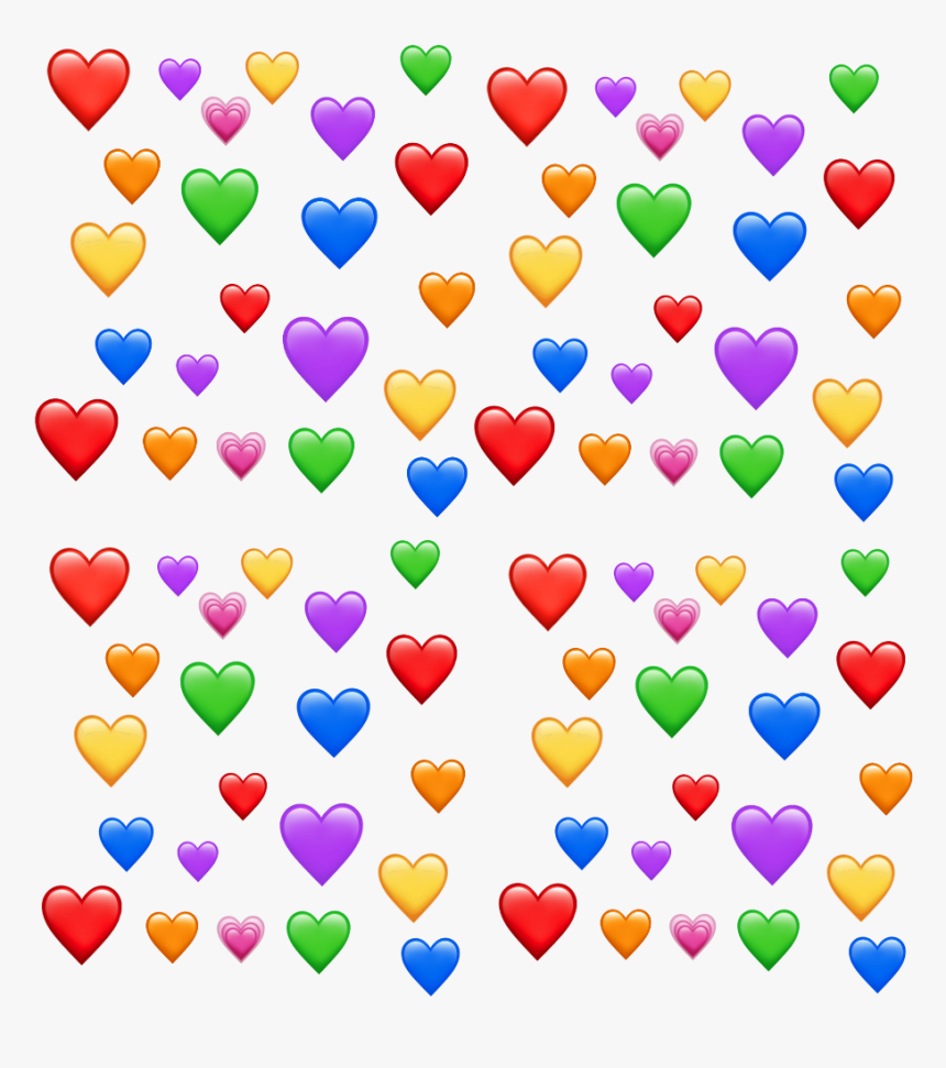 #rainbow #colors #heart #hearts #cool #rainbowhearts - Transparent Heart Emoji Meme Png, Png Download, Free Download