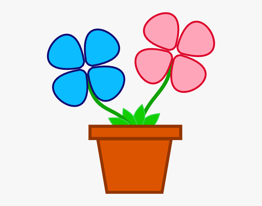 Flowerpot Clip Art - Flower With Vase Clip Art, HD Png Download, Free Download