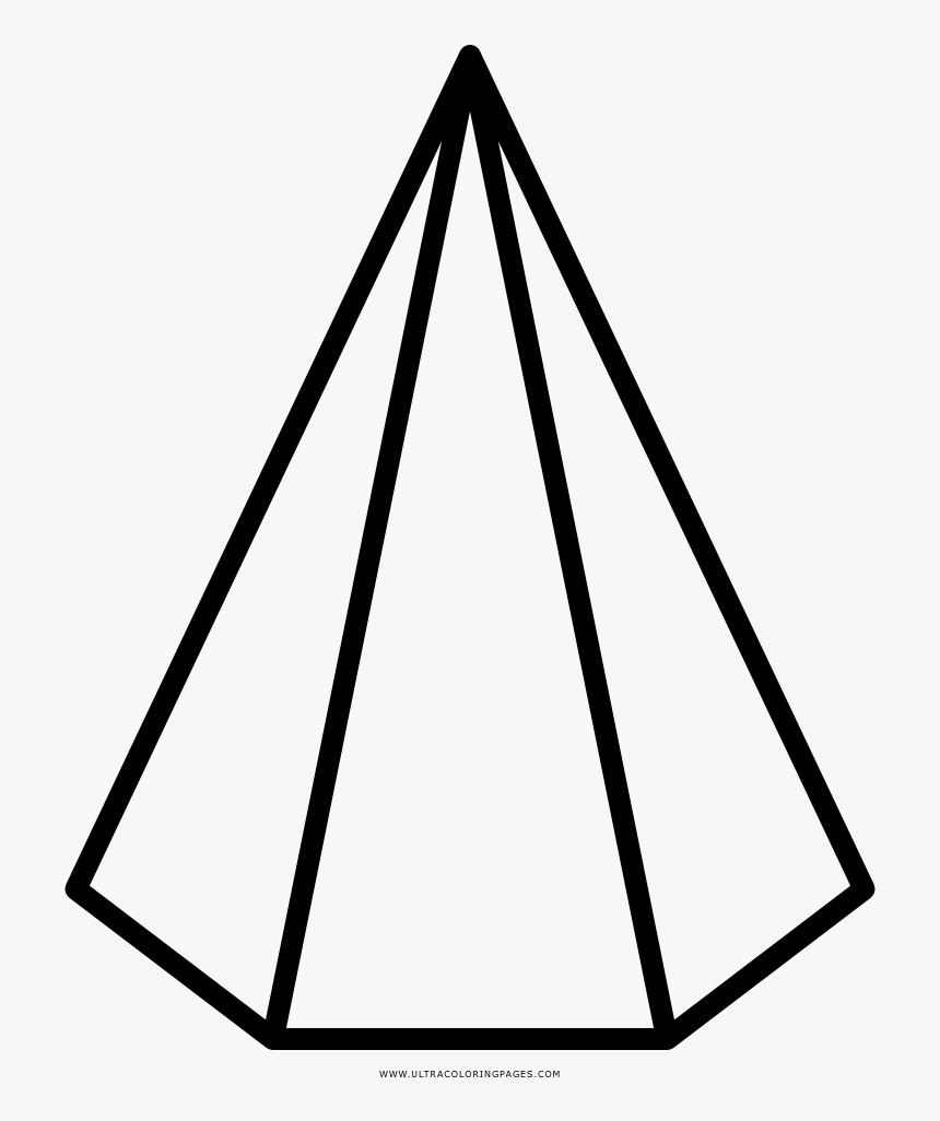 Hexagonal Pyramid Coloring Page Hexagonal Pyramid Png Transparent Png Kindpng
