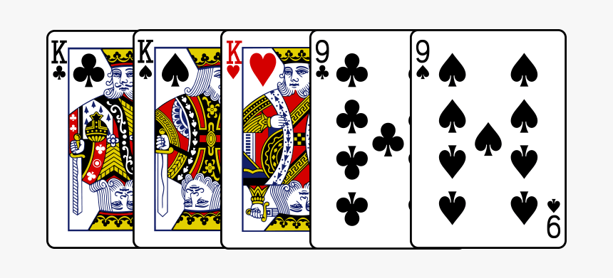 Full House Cards Png - King Of Hearts Card, Transparent Png, Free Download