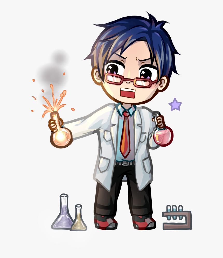 Deidara Chibi Anime Drawing Naruto - Chibi Scientist Drawing, HD Png Download, Free Download