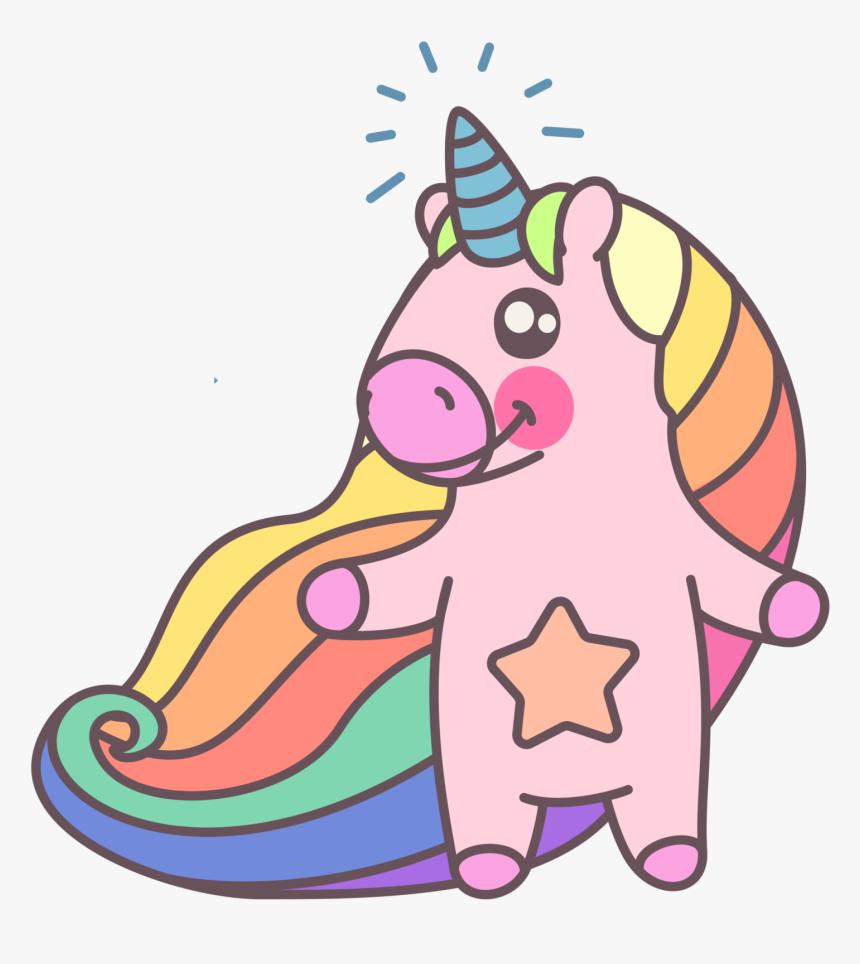 Cute Rainbow Unicorn - Cute Unicorns Black And White, HD Png Download, Free Download
