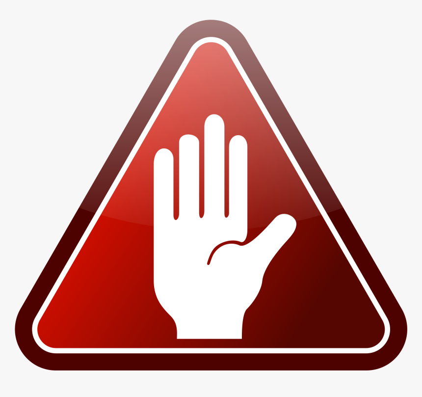 Caution Hand Icon, HD Png Download, Free Download
