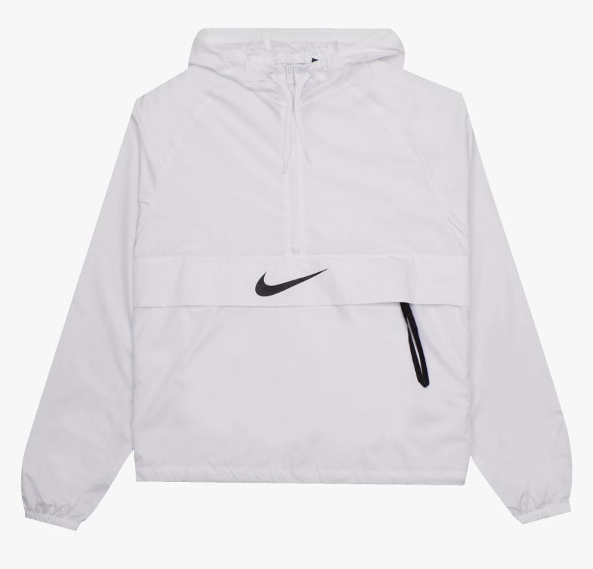 Nsw Swoosh Packable Jacket White / Black - Hoodie, HD Png Download, Free Download