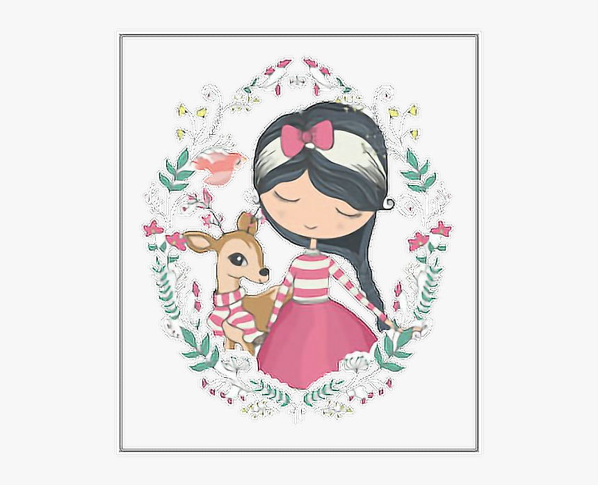 #freetoedit #girly #girl #banner #sketch #guirnalda - Angel Little Girl Vector, HD Png Download, Free Download