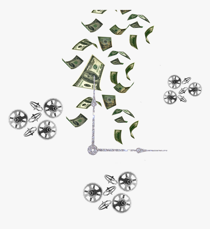 Transparent Time Is Money Png - Falling Money, Png Download, Free Download