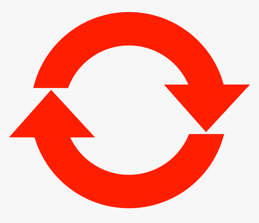 Circle Arrow Icon Red - Red Refresh Icon Png, Transparent Png, Free Download