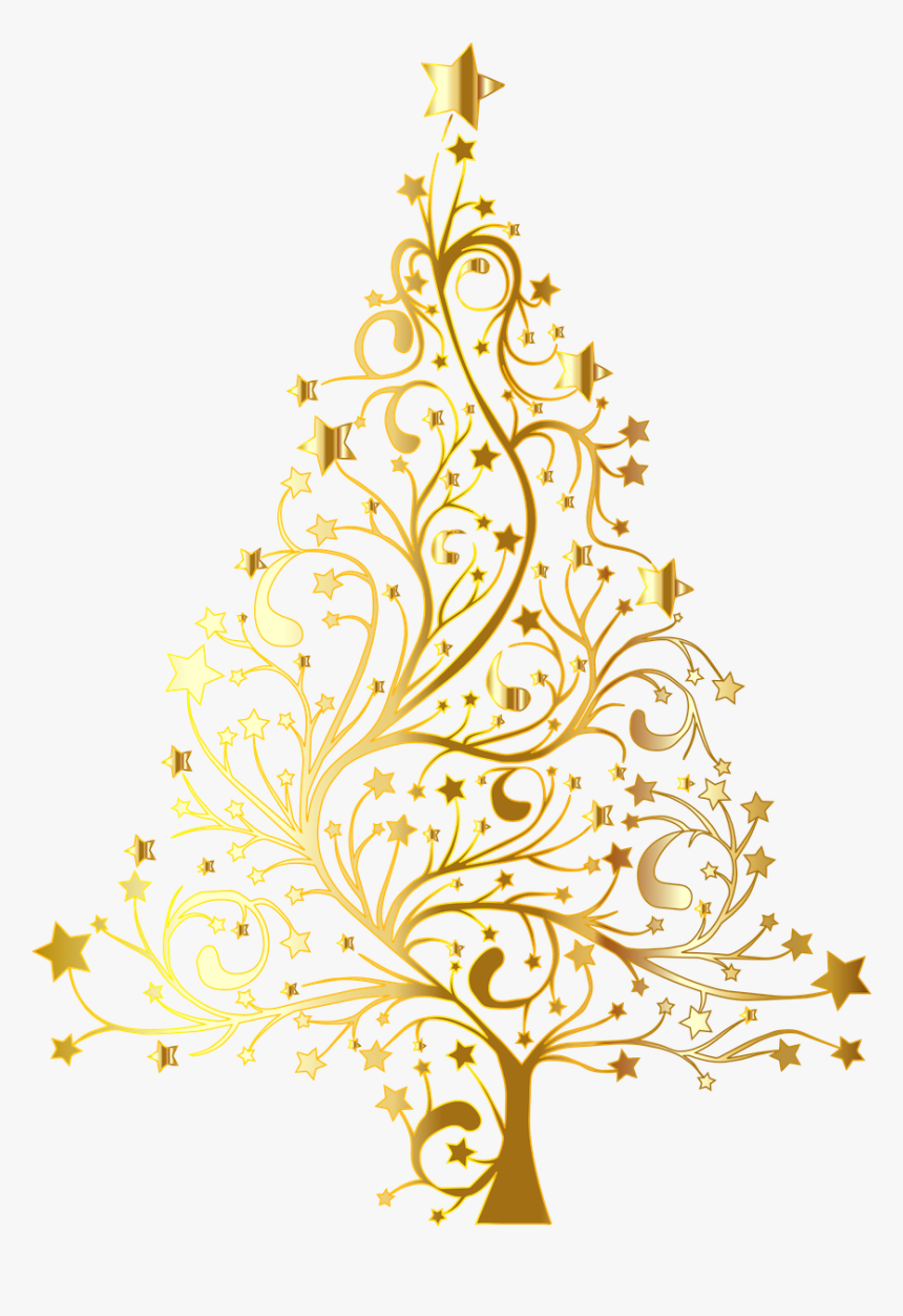 Fir,pine Family,christmas Ornament - Gold Christmas Tree Transparent Background, HD Png Download, Free Download